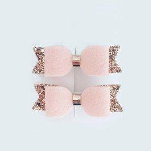 Κορδέλα-μαλλιών-με-ροζ-φιόγκο-και-χρυσό-γκλίτερ-
