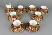Lot No 107 A set of 8 Royal Crown Derby Japan pattern coffee cans and saucers, sold for £200