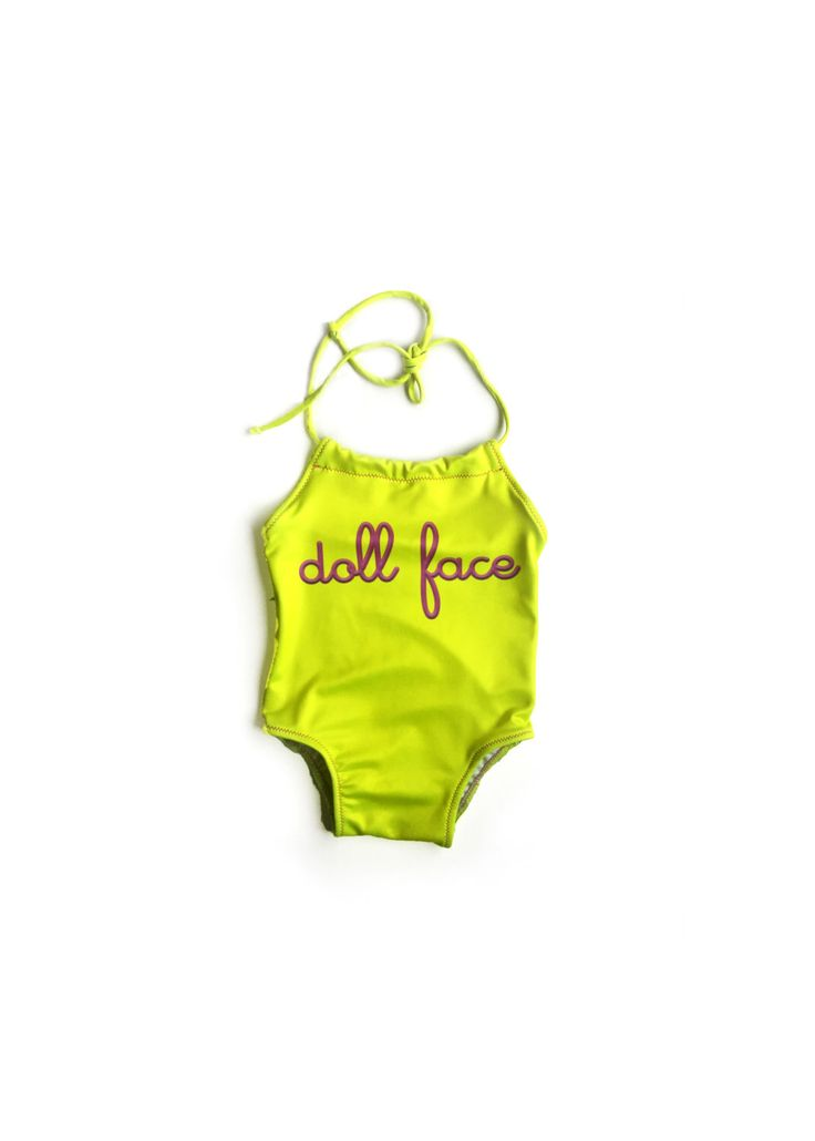 One Piece Swimsuit Toddler Girl Swimsuit Baby Girl Swimsuit Girls Neon Doll Face Beach Suite, Baby Girl Body Suit by LilBooApparel on Etsy https://www.etsy.com/listing/273420268/one-piece-swimsuit-toddler-girl-swimsuit