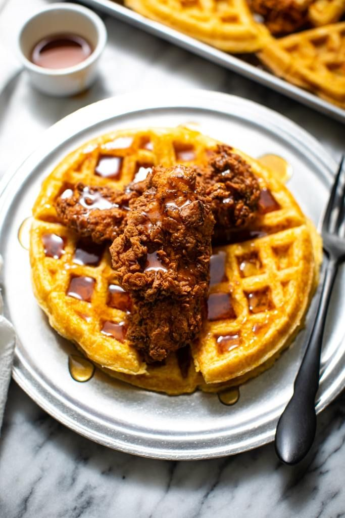 Chicken And Waffles Recipe The Best Butter Be Ready Recipe In 2020 Fried Chicken And Waffles Waffle Recipes Chicken And Waffles