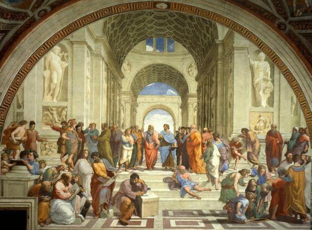 De zalen vanRafaël. Raffaello Sanzio uit Urbino werd maar 37, maar slaagde erin om als schilder-beeldhouwer-architect uit te groeien tot de man die eigenhandig het schoonheidsideaal van de klassieken naar zijn eigen tijd overbracht.