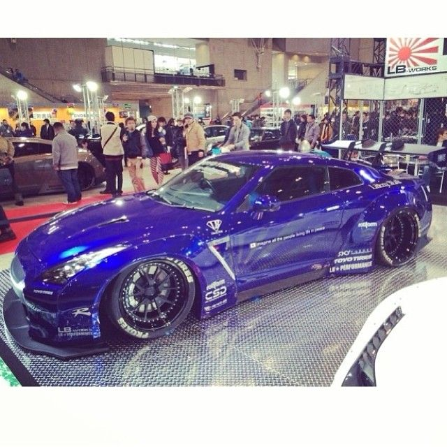 Blue Nissan GTR 35 http://beasttuner.com/blue-nissan-gtr-35-lb-performance/