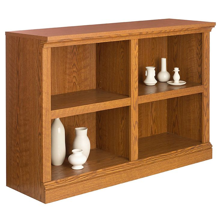 """Realspace® Premium Multipurpose Bookcase, 2-Shelf, 32""""H x 47 1/2""""W x 15 1/2""""D, Carolina Oak, $110"""
