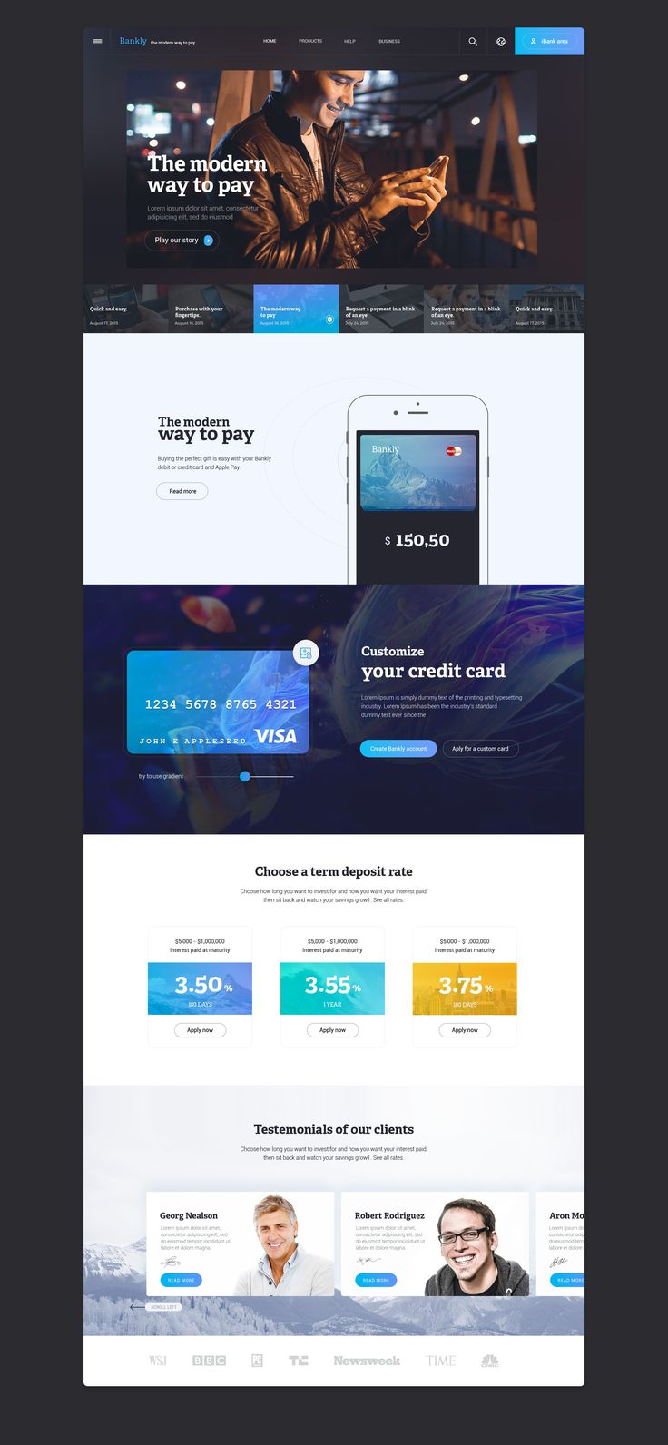 iBank Website Design