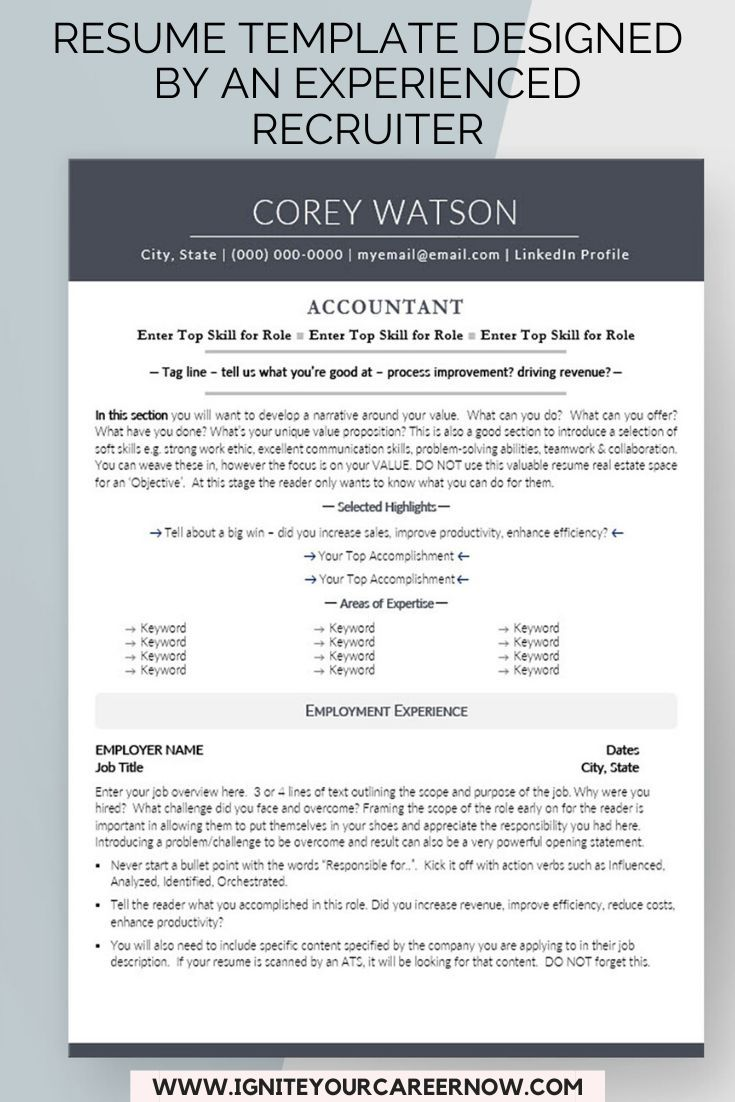 Resume Templates From An Award Winning Resume Writer By Igniteyourcareer Teacher Resume Template Resume Template Resume Templates