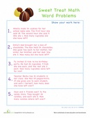 2nd grade math word problems - printable worksheets