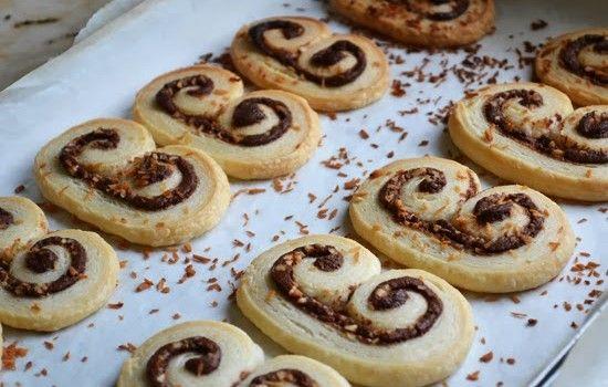 Μπισκότα Παλμιέ με Nutella με 2 υλικά σε 10′ ! | Sokolatomania.gr