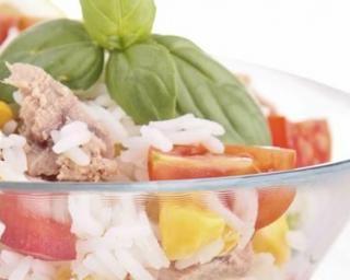 Salade de riz fait maison