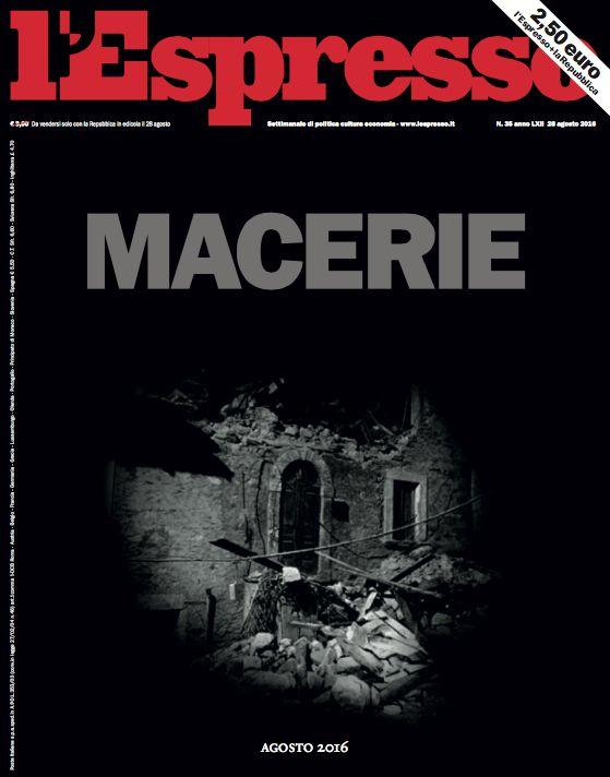 La copertina dell'Espresso in edicola domenica 28 agosto