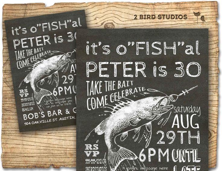 Fishing Invitation 30th Birthday Invitation 40th 50th