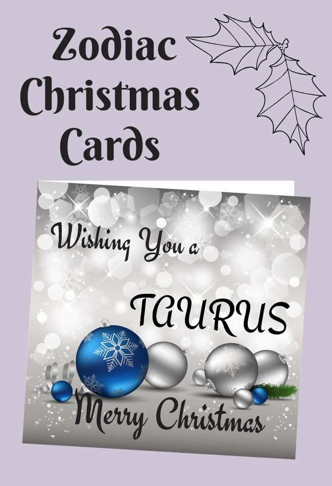 Beautiful Christmas Card For Taurus Zodiac Sign Zodiac Things