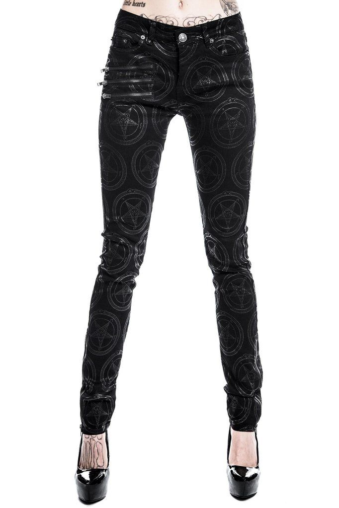 79d77bab3f823b Baphomet Speed Jeans [B] | KILLSTAR Ain't no Basic with these  fitted-like-a-dream skinny denims - with accent zippers, belt hoops and all  the essentialz.