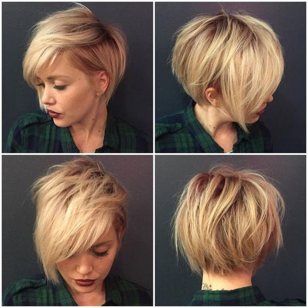 32 Trendy Hairstyles And Haircuts For Round Face Pixie Short