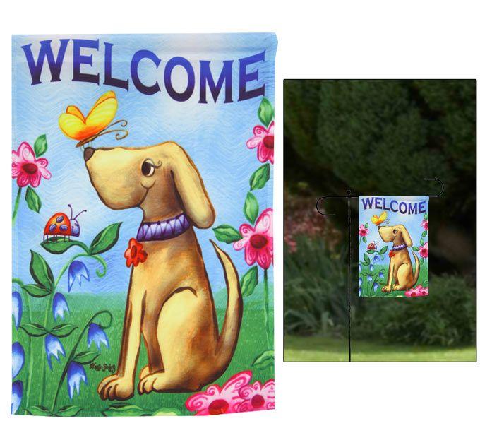Welcome Dog Garden Flag