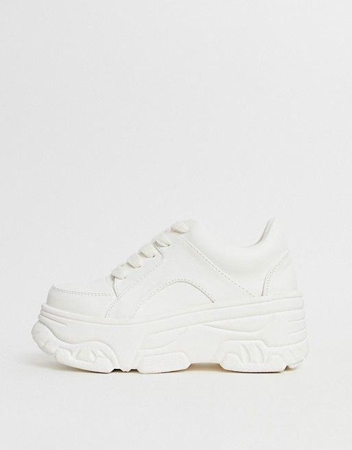01465bb112 New Look extra chunky sneaker in white in 2019 | Outfits | White ...
