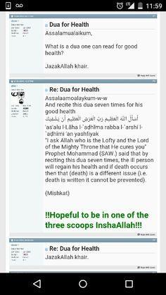 Dua for health