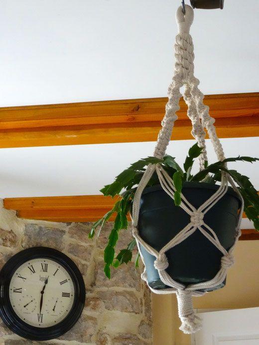 macramé, suspension plante