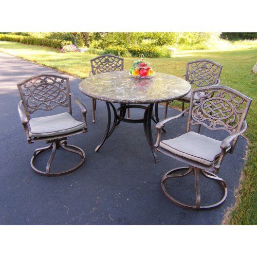 Oakland Living Stone Art 48 in  Mississippi Patio Dining Set with Swivel  Chairs by Oakland25 best Garden   Patio Furniture Sets images on Pinterest  . Oakland Living Mississippi Patio Rocking Chair. Home Design Ideas