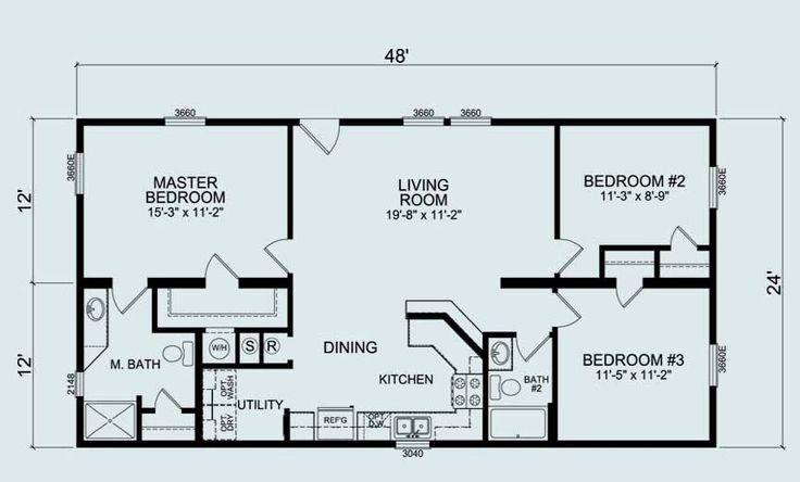 24 Foot Wide House Plans Best Of 24 X 36 Floor Plans In 2020 Mobile Home Floor Plans Modular Home Floor Plans Floor Plans