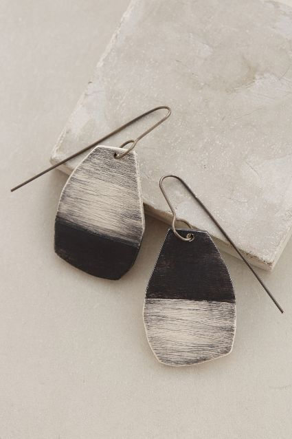 Chiseled Charcoal Drops - anthropologie.com