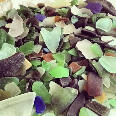Five pounds of sea glass - Governor's Beach, Grand Turk