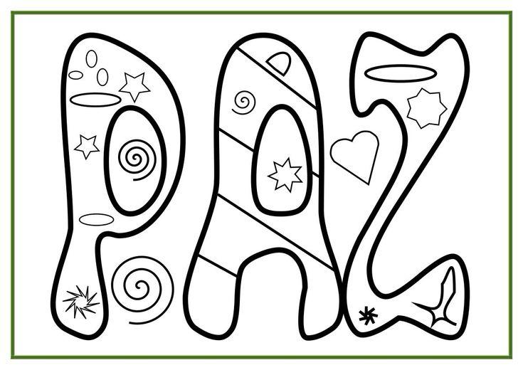 Día De La Paz Galería De Dibujos Y Carteles Niños Del: Signos De Amor Y Paz Para Colorear - Imagui
