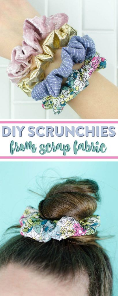 DIY Scrunchies – a great DIY hair accessory from scrap fabric