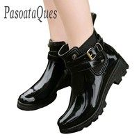 Wish | Rubber Shoes Women Rain Boots For Girls Ladies Walking Waterproof Women Boots