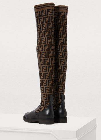 f7c055a7539 Fendi Rockoko flat thigh-high boots