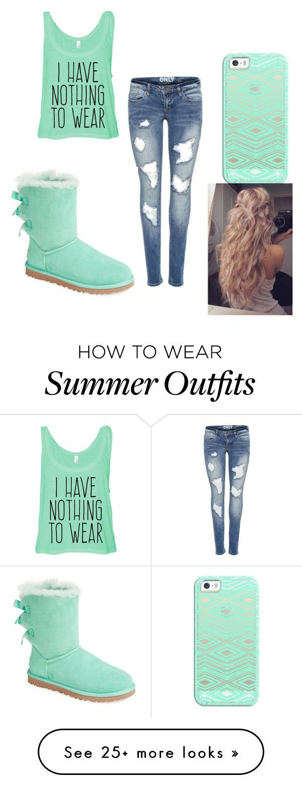 """Dream outfit"" by tori-123 on Polyvore featuring moda, Casetify ve UGG Australia"