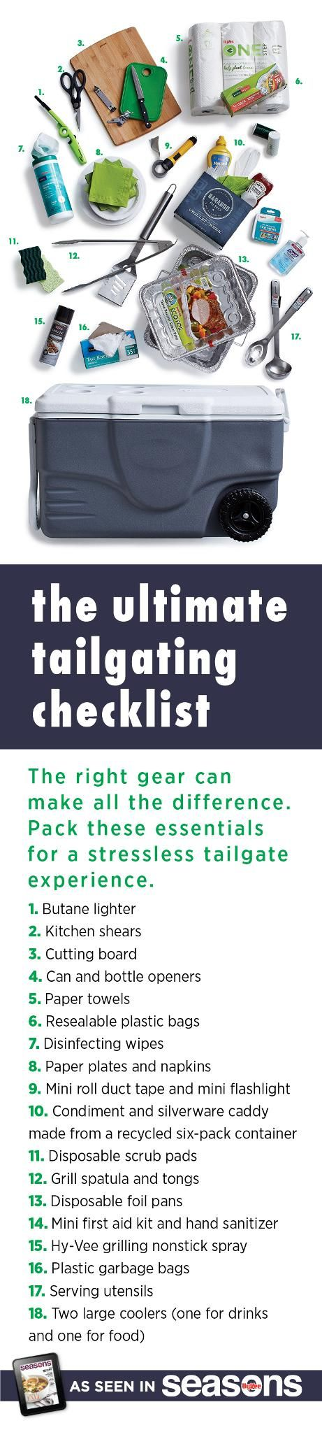 The right #tailgating gear can make all the difference. Pack these essentials for a stress-free tailgate experience.