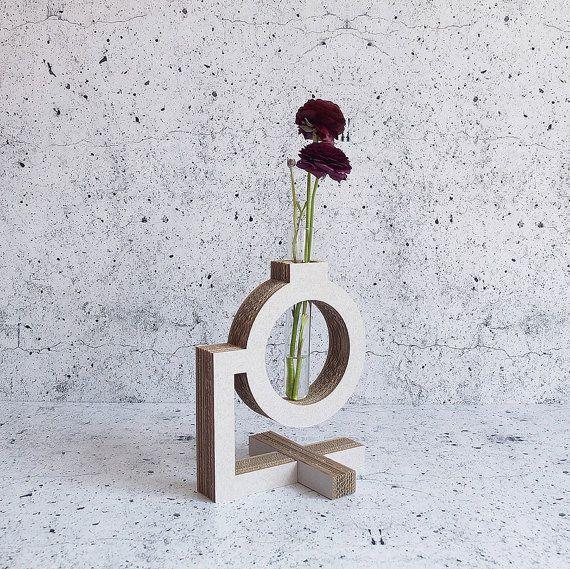 Bunsen burner test tube vase. The Lab collection. Form Maker. Cardboard. Eco friendly homeware.