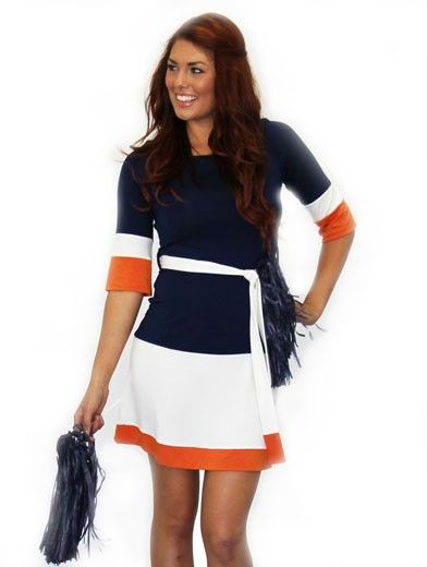 Three Tone Color Block Sleeve Dress Cute For An Hutson University Girl