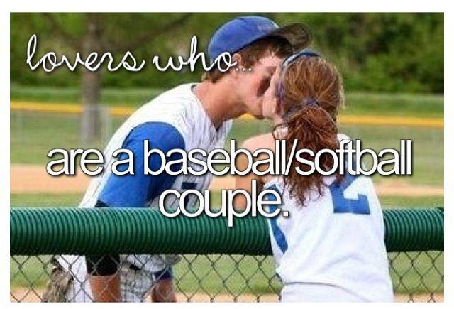 Baseball/softball couple