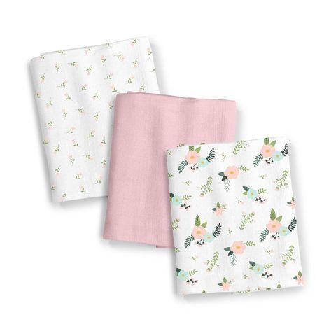 SwaddleMe Fancy Floral 3 Pack Muslin Blankets