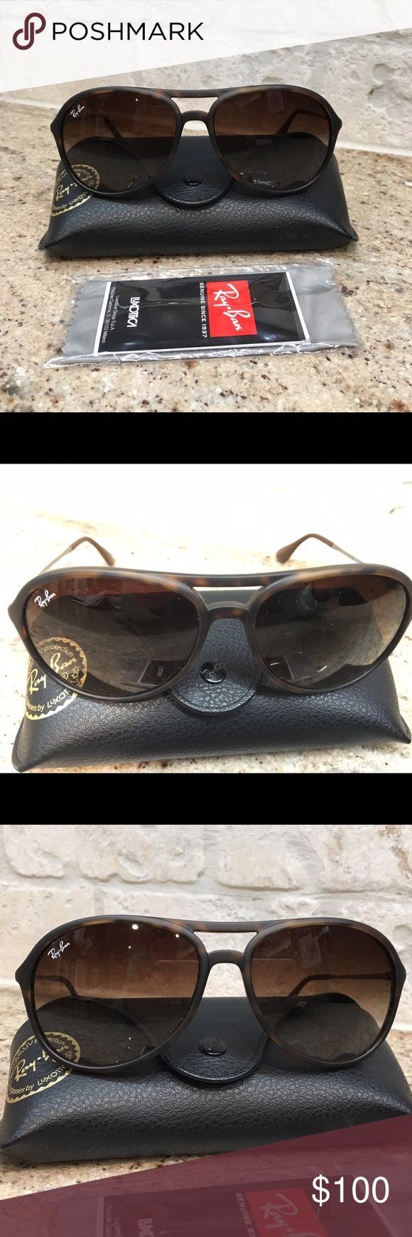 Ray Ban aviator sunglasses Thin matte tortoise color Ray Ban aviator sunglasses. Very lightweight, perfect condition, comes with case, cleaning cloth etc. no stretches. Ray-Ban Accessories Sunglasses