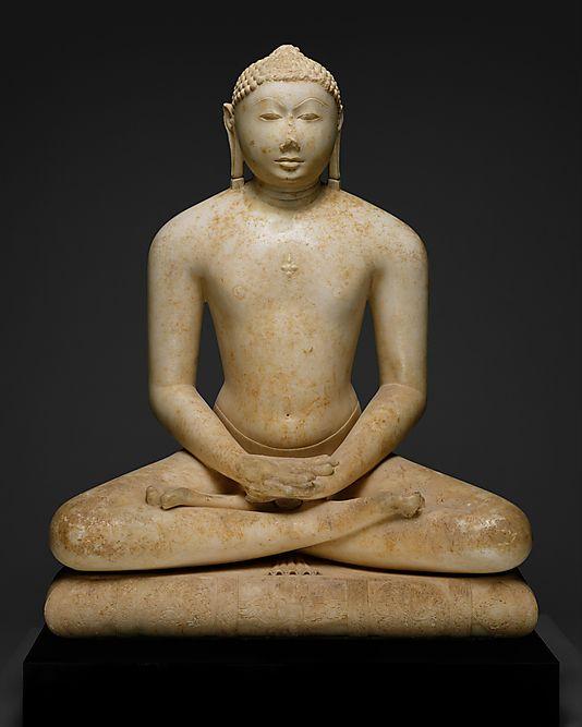 Jain Svetambara Tirthankara in Meditation, Seated on a Throne Cushion    Metropolitan Museum of Art