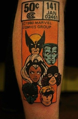 X-Men #141 is a fantastic comic (and easily in the Top 10 all-time), but getting the tattoo on your forearm is extreme!!!