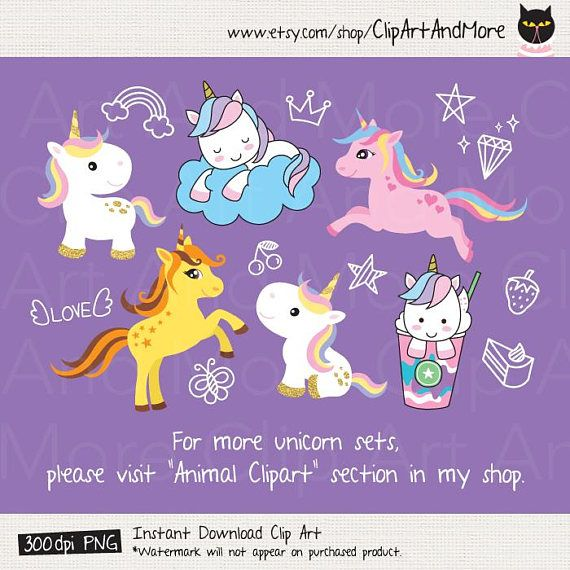 Set of cute baby unicorn clipart. I included wing as a separate clipart which can be added to the back of the unicorn to get flying unicorn or pegasus. ♥ Christmas version is also available here: https://www.etsy.com/clipartandmore/listing/569261889 ♥ For more unicorn sets, please