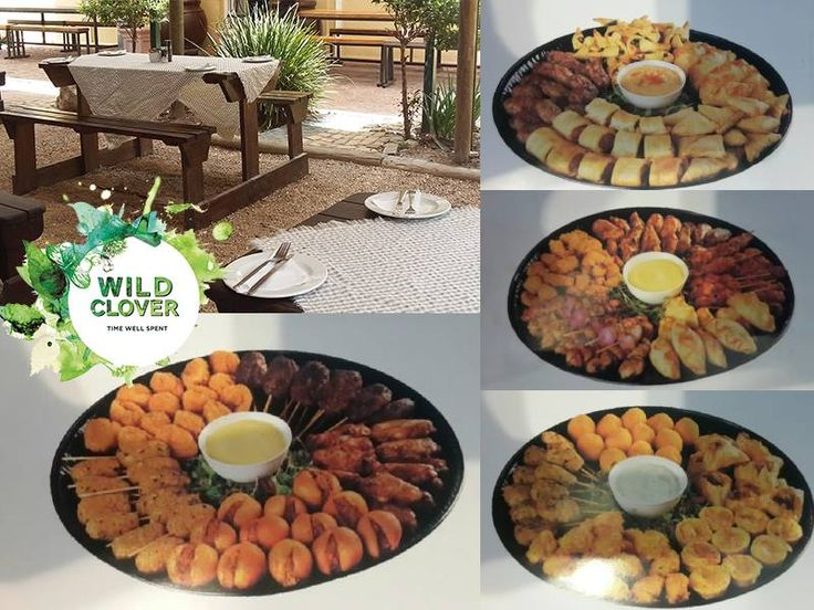 Great outside space for functions and great platter specials at Wild Clover!  All platters have an average of 30-35 items and can feed 4 to 5 people. Platters need to be ordered 48 hours in advance.  For Enquiries: http://ow.ly/Rm5A304BOud or email: info@wildclover.co.za