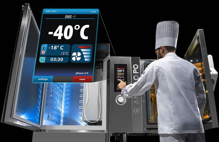 From -40 to +300 degrees Celsius with a single touch - BE-1 is the integrated Cook & Chill system that allows you to manage, with a single interface, the combination oven Combistar FX Level 3 and the blast chiller/freezer Blitz. With BE-1 you can work with two top-of-the-line machines as if they were one, in a simple, intuitive and convenient way, thereby combining energy savings with the latest cook and chill technology, ease of use and versatility.