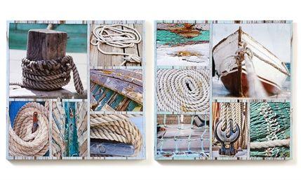 canvas nautical prints 2 asst 23.6 x 1.2 x 23.6