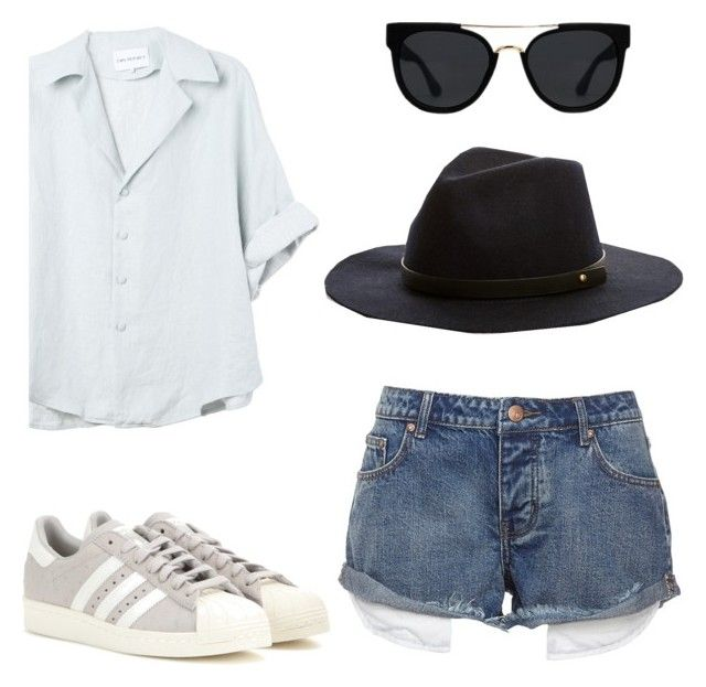 """4 items everyday look"" by teodorapetre on Polyvore featuring adidas and Quay"