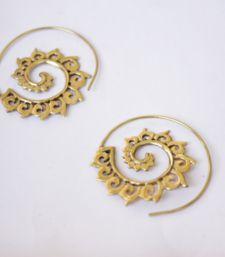 Buy Tribal Floral Spiral Earrings hoop online