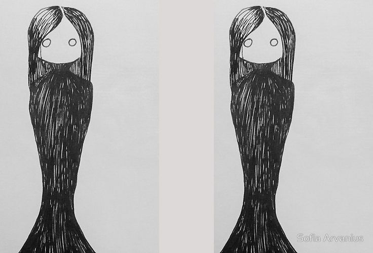Goth Girl illustration by Sofia Arvanius.