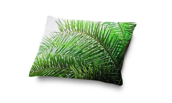 An accent of green palms for beach style naps, this soft and plus coral fleece pet bed comes adorned with a design of tropical palm tree fronds atop! Available in three different pet bedding sizes to choose from, this botanical inspired accent adds a touch of the beach life to your dog or cats bedding arrangement settings!  Make a great bedside pairing for your pet companion with a matching Duvet Cover here: http://etsy.me/2oM4P52  ~ ~  Perfect for your four-legged family membe...