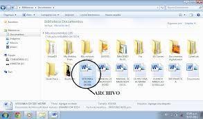 archivo: Un archivo o fichero informático es un conjunto de bits almacenado en un dispositivo. Un archivo es identificado por un nombre y la descripción de la carpeta o directorio que lo contiene.