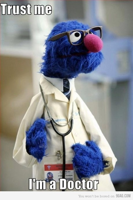 I just love Grover so much. Look how cute he is...he has no shoulders. lol <3