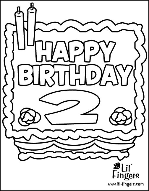 birthday coloring pages for 2nd birthday Google Search