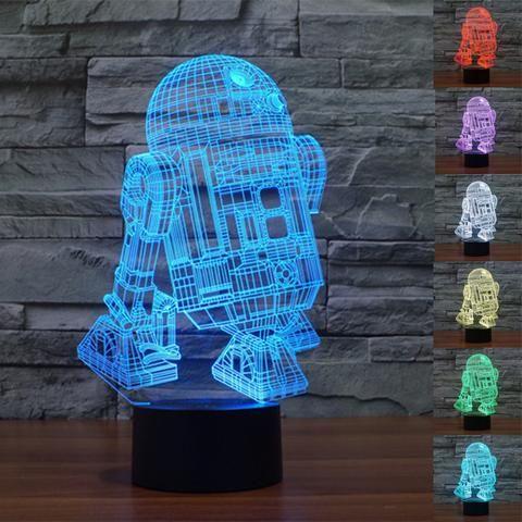 R2D2 3D Illusion LED Lamp